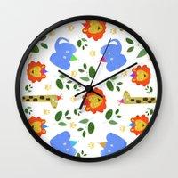 Happy Animals Wall Clock