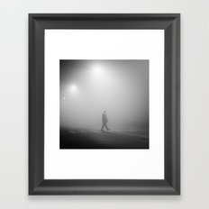 MAN IN THE MIST Framed Art Print