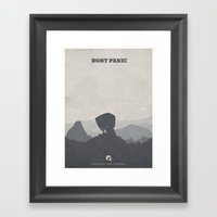 The Hitchhiker's Guide T… Framed Art Print