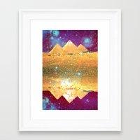 Pyramid Magick Framed Art Print