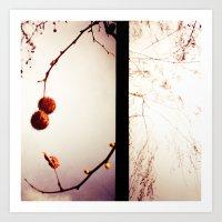 Tree And Clouds Lomograp… Art Print