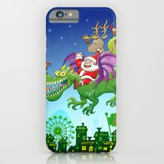 Santa changed his reindeer for a dragon iPhone 6 Slim Case