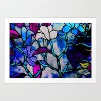 Painted Glass Art Print