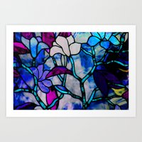 Painted Glass Art Print