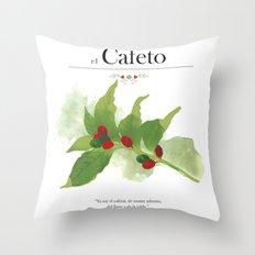 el Cafeto (coffee plant) Throw Pillow