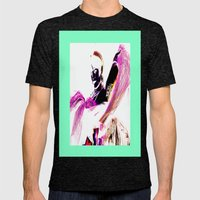 Whimsical Mens Fitted Tee Tri-Black SMALL