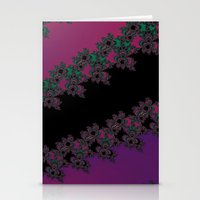 Fractal Layered Lace  Stationery Cards