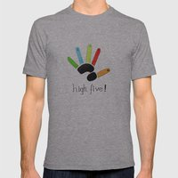 High Five! Mens Fitted Tee Athletic Grey SMALL