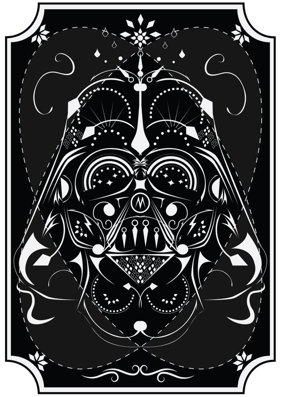 Darth Vader on Acid Art Print