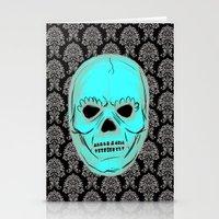 Skull Mask Stationery Cards