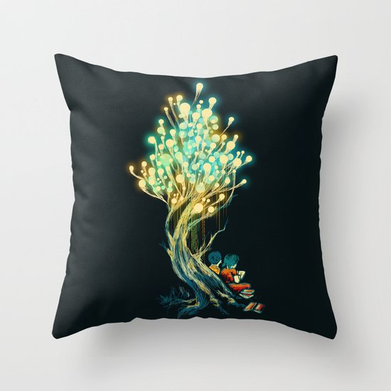 ElectriciTree Throw Pillow