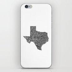 Typographic Texas iPhone & iPod Skin