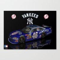 N.Y.Yankees & NASCAR Canvas Print