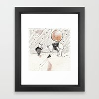 Pooh, Piglet, and Tiny Bird Framed Art Print