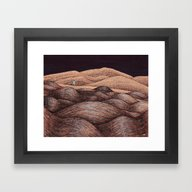 Framed Art Print featuring River House by Nate Armstrong