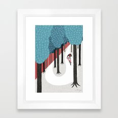 Mountain Biking Framed Art Print