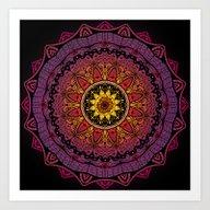 Black Widow Mandala  Art Print