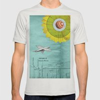Spacecraft Mens Fitted Tee Silver SMALL