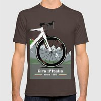 Giro D'Italia Bike Mens Fitted Tee Brown SMALL
