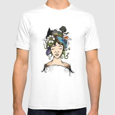 Mother nature SMALL White Mens Fitted Tee