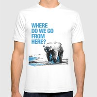 WHERE? Mens Fitted Tee White SMALL