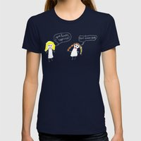 SON CHORIZOS Womens Fitted Tee Navy SMALL