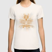 Grunge Shield Womens Fitted Tee Natural SMALL
