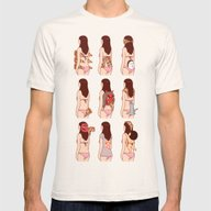 Girl & Pizza Mens Fitted Tee Natural SMALL