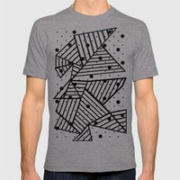 Abstract Spots Close Up Mens Fitted Tee Tri-Grey SMALL