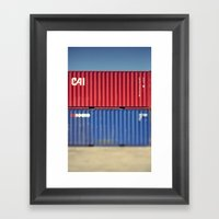 Container 3 Framed Art Print