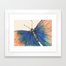 Butterfly - Geometric Abstract Framed Art Print