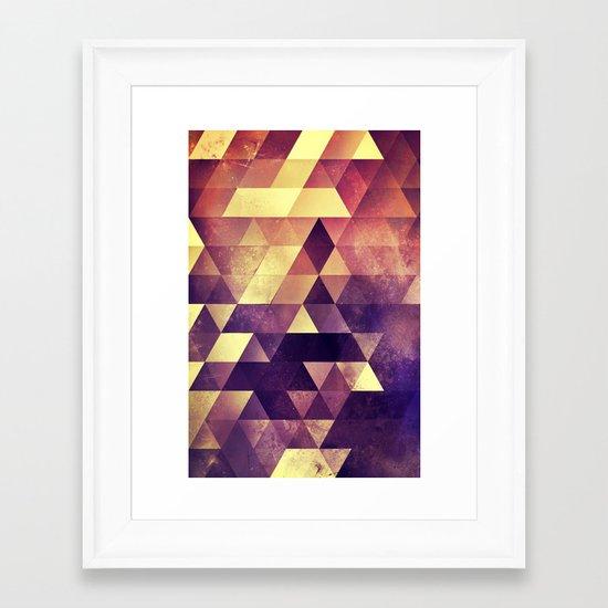 myyk lyyv Framed Art Print
