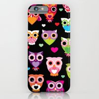 Owl Cuteness Colorful Bi… iPhone 6 Slim Case
