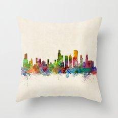 Chicago City Skyline Throw Pillow