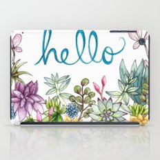hello spring iPad Case