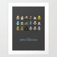 Mega Star Wars: Episode V - Empire Strikes Back Art Print
