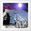 studying UFO's Art Print