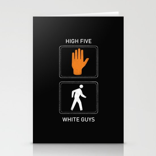 High Five White Guys Stationery Card