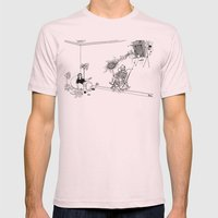 Tesla Mens Fitted Tee Light Pink SMALL