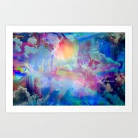 You Are entering a beautiful place called heaven  by Sherriofpalmsprings Art Print