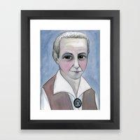 Gertrude Stein Literary Portrait Framed Art Print
