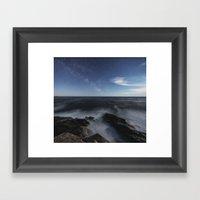 Milky Way In Moonlight Framed Art Print