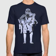Trooper with Kids Mens Fitted Tee Navy SMALL