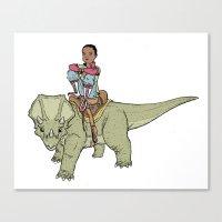 A Boy and his Dinosaur Canvas Print