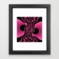 Black and Pink Framed Art Print