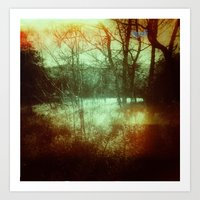 Light Leak Forrest Art Print