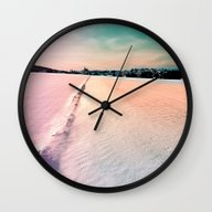 The Field And The Villag… Wall Clock