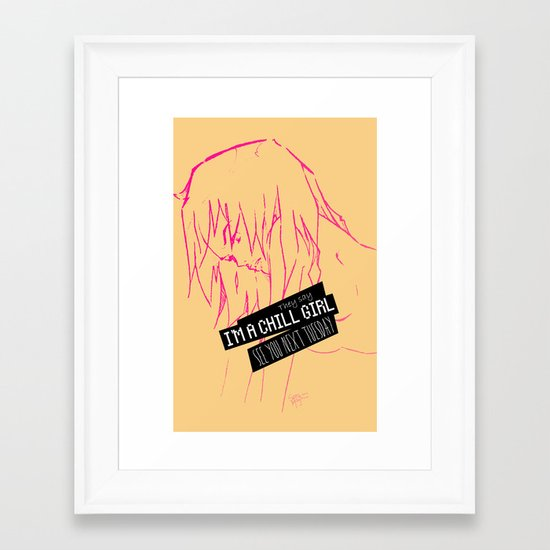 Chill Girl Framed Art Print