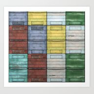 Old Wooden Colorful Apia… Art Print