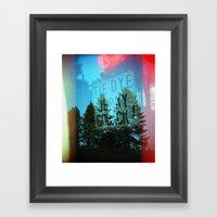 Tie Dye Jerky Go Back Framed Art Print